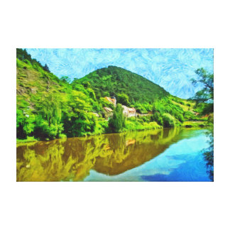 Landscape in the vicinity of the castle Karlstejn. Canvas Print