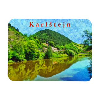 Landscape in the vicinity of the castle Karlstejn. Magnet