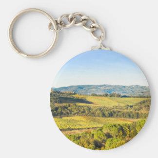 Landscape in Tuscany, Italy Keychain