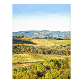 Landscape in Tuscany, Italy Letterhead