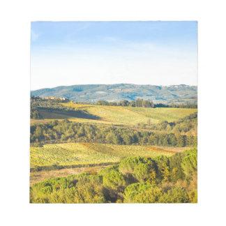 Landscape in Tuscany, Italy Notepad