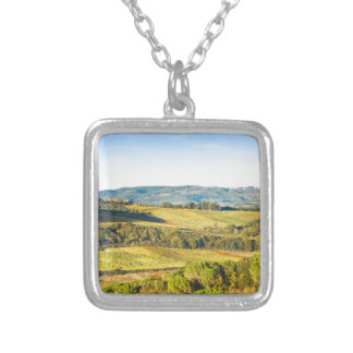 Landscape in Tuscany, Italy Silver Plated Necklace