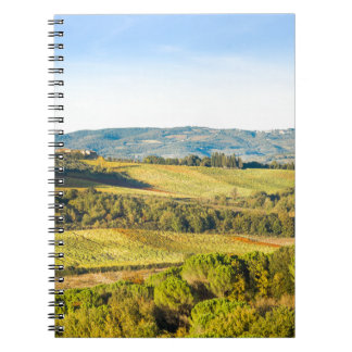 Landscape in Tuscany, Italy Spiral Note Books