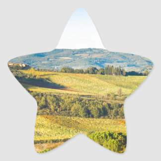 Landscape in Tuscany, Italy Star Sticker