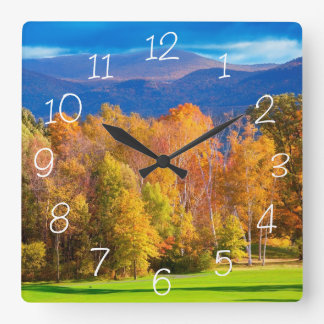 Landscape in Vermont Square Wall Clock