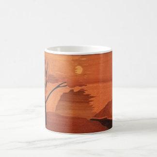 Landscape Italian Marquetry Reproduction Coffee Mug