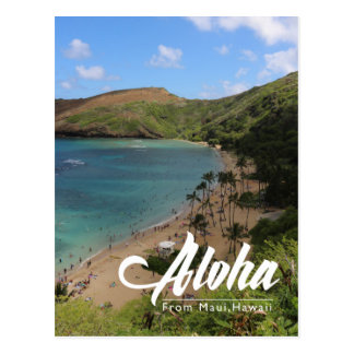 landscape maui Hawaii postcard