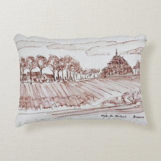 Landscape Mont Saint-Michel | Normandy, France Accent Pillow