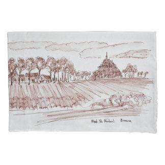 Landscape Mont Saint-Michel | Normandy, France Pillowcase