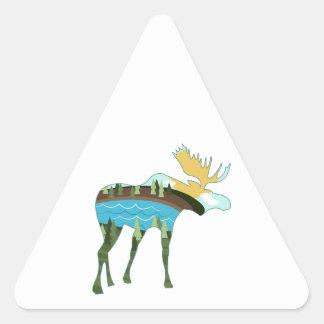 Landscape Moose Triangle Sticker