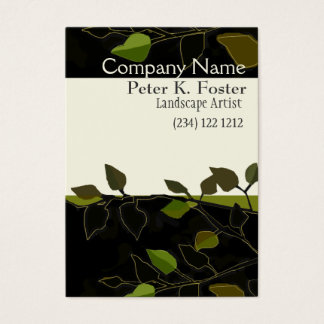 Landscape Nature Tree Branch Modern Business Card