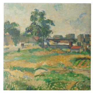 Landscape near Paris, c. 1876 (oil on canvas) Tile
