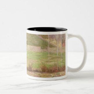 Landscape near Pont-Aven, 1888 Two-Tone Coffee Mug