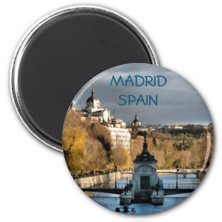 Landscape next to the river Manzanares, Madrid Magnet