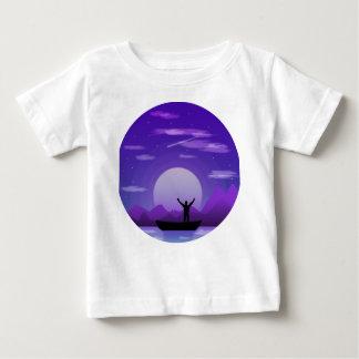 Landscape night illustration baby T-Shirt