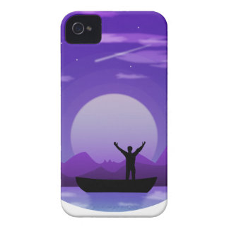 Landscape night illustration Case-Mate iPhone 4 case