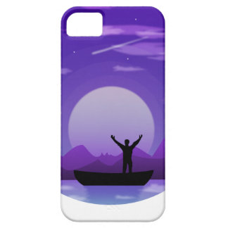 Landscape night illustration iPhone 5 cover