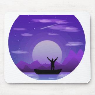 Landscape night illustration mouse pad