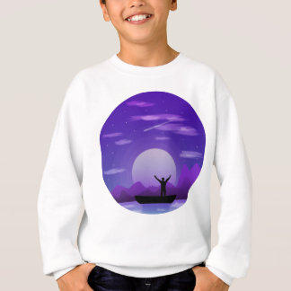 Landscape night illustration sweatshirt
