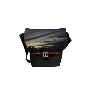 Landscape of getting late in the pine of Doñana Messenger Bag