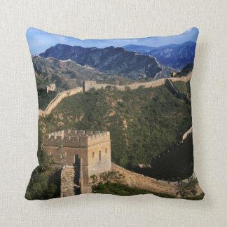 Landscape of Great Wall, Jinshanling, China Pillows