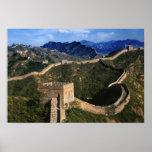 Landscape of Great Wall, Jinshanling, China Poster