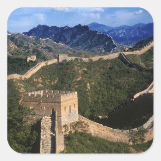 Landscape of Great Wall, Jinshanling, China Square Sticker