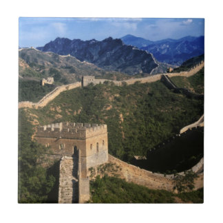 Landscape of Great Wall, Jinshanling, China Tiles