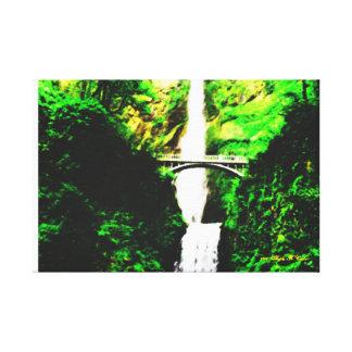 Landscape of Multnomah Falls Canvas Print