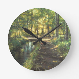 Landscape of nature with to river clock