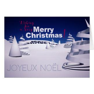 Landscape of Snow 3D computer Art Christmas card