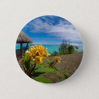 Landscape off will bora will bora 2 inch round button