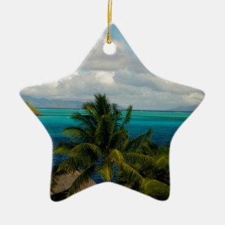 Landscape off will bora will bora ceramic ornament