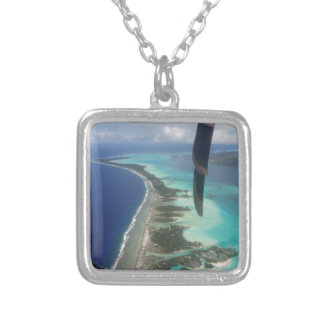 Landscape off will bora will bora silver plated necklace