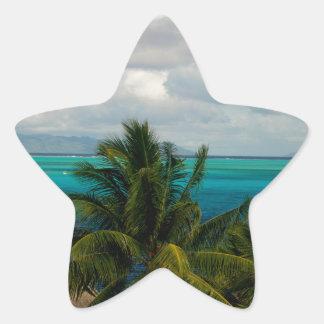 Landscape off will bora will bora star sticker