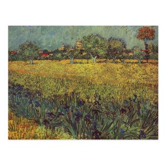 Landscape painting by Vincent Van Gogh Postcard