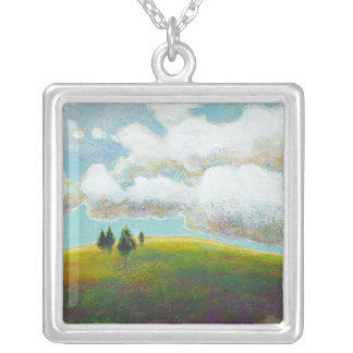 Landscape painting contemporary impressionism art jewelry