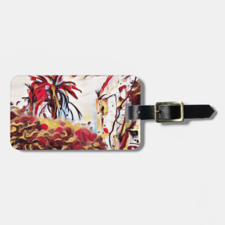 LANDSCAPE PAINTING SOUTH SPAIN LUGGAGE TAG
