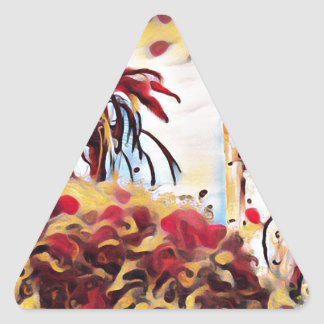 LANDSCAPE PAINTING SOUTH SPAIN TRIANGLE STICKER