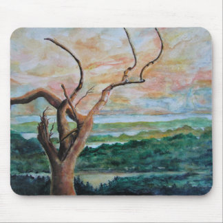 Landscape Painting with Tree - Mouse Pad