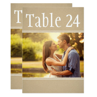 Landscape Photo Table Number Cards | Kraft Paper