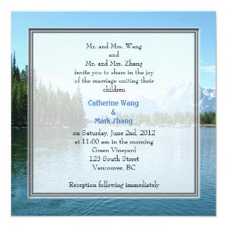 Landscape photo wedding invitations. Grand Teton Card