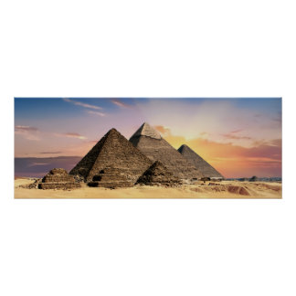 Landscape Photography: Giza Pyramid Complex Egypt Poster