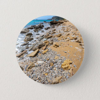 Landscape rocky coast Kefalonia Greece 2 Inch Round Button