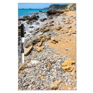 Landscape rocky coast Kefalonia Greece Dry Erase Board