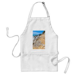 Landscape rocky coast Kefalonia Greece Standard Apron