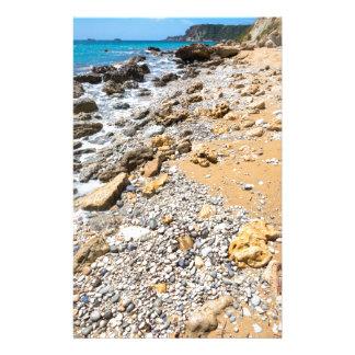 Landscape rocky coast Kefalonia Greece Stationery