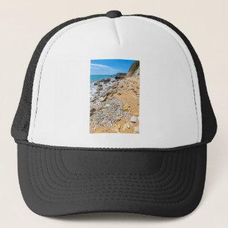 Landscape rocky coast Kefalonia Greece Trucker Hat