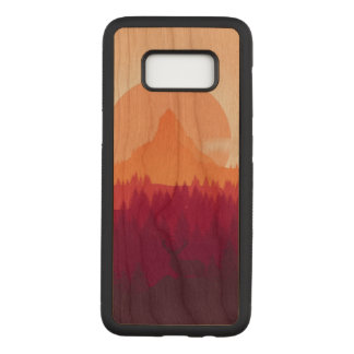 Landscape Samsung Galaxy S8 Slim Cherry Wood Case