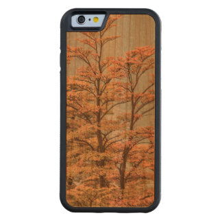 Landscape Scene Colored Trees at Glacier Lake Carved Cherry iPhone 6 Bumper Case